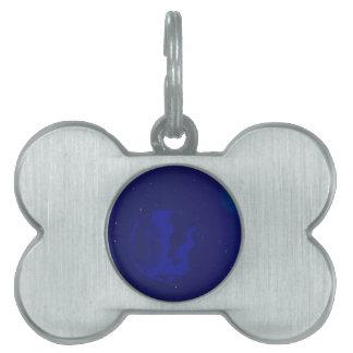 Galaxy Blur Pet Name Tag