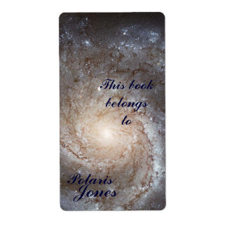 Galaxy  Bookplate Shipping Label