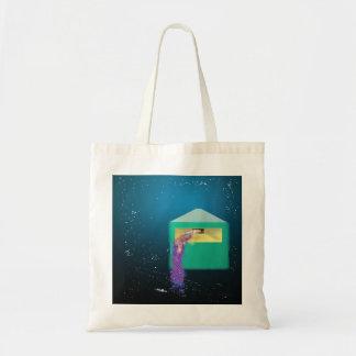 Galaxy Box Digital Abstract Art Budget Tote Bag