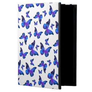Galaxy butterfly cool blue white pattern iPad air case