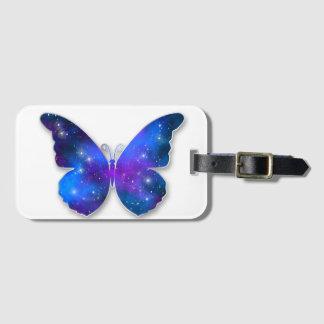 Galaxy butterfly cool dark blue illustration luggage tag