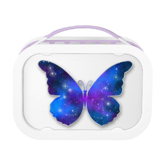 Galaxy butterfly cool dark blue illustration lunchboxes