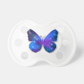 Galaxy butterfly cool dark blue illustration pacifier