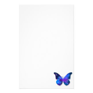 Galaxy butterfly cool dark blue illustration stationery