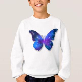Galaxy butterfly cool dark blue illustration sweatshirt