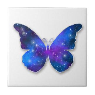 Galaxy butterfly cool dark blue illustration tile