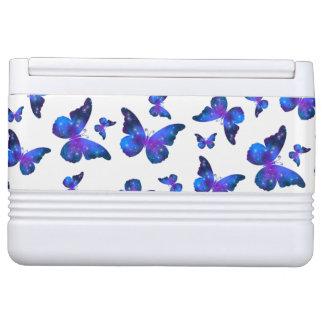 Galaxy butterfly cool dark blue pattern