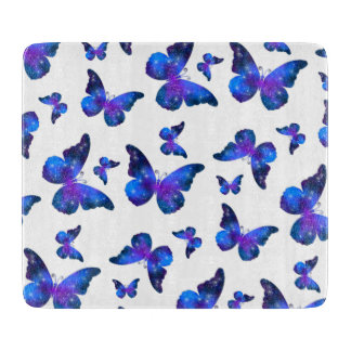 Galaxy butterfly cool dark blue pattern boards