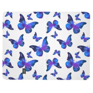 Galaxy butterfly cool dark blue pattern journal