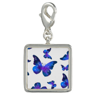 Galaxy butterfly cool dark blue pattern photo charm