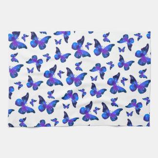 Galaxy butterfly cool dark blue pattern towel