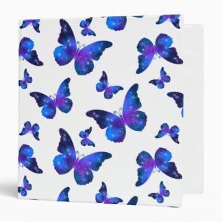 Galaxy butterfly cool dark blue pattern vinyl binders