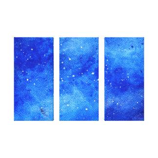 Galaxy canvas print wall decor