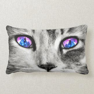 Galaxy Cat Eye Lumbar Throw Pillow