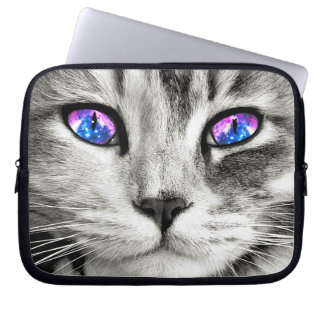 Galaxy Cat Eyes Laptop Sleeve