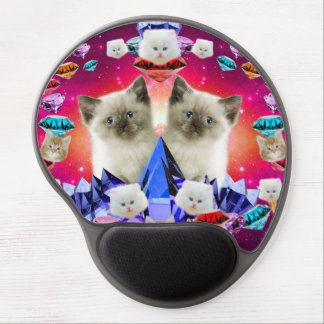 galaxy cat in diamond gel mouse pad