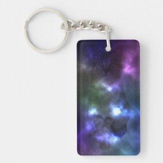 Galaxy Cat Keychain