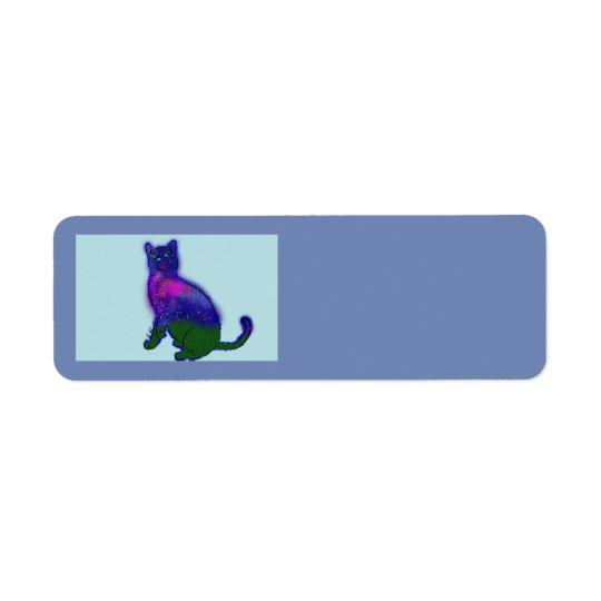Galaxy Cat Playing Address Labels