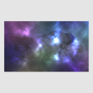 Galaxy Cat Rectangle Stickers, Glossy, 4.5 x 2.7 Sticker