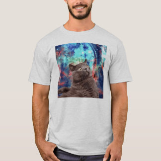 Galaxy Cat Surprise T-Shirt