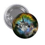Galaxy Cat Universe Kitten Launch 1 Inch Round Button