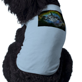 Galaxy Cat Universe Kitten Launch Doggie T-shirt