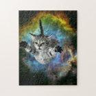 Galaxy Cat Universe Kitten Launch Jigsaw Puzzle