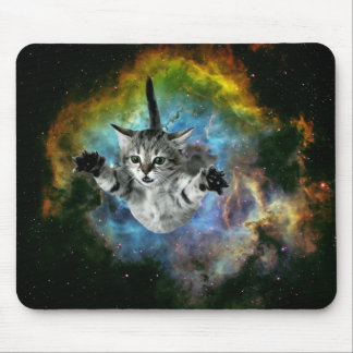 Galaxy Cat Universe Kitten Launch Mouse Pad