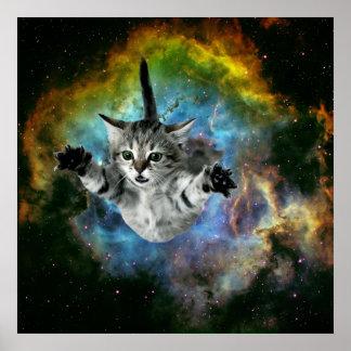 Galaxy Cat Universe Kitten Launch Poster