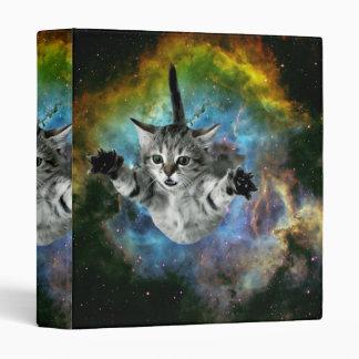 Galaxy Cat Universe Kitten Launch Vinyl Binders