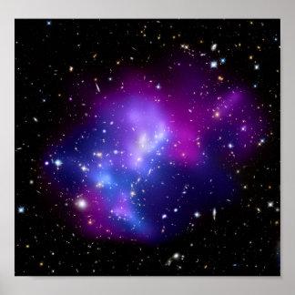 Galaxy Cluster MACS J0717 Hubble Telescope Posters