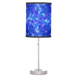 Galaxy crystal Blue polygonal facet pattern Table Lamp