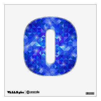 Galaxy crystal Blue polygonal facet pattern Wall Decal