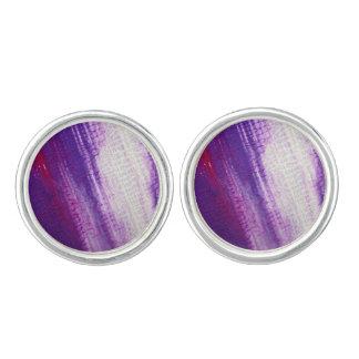 Galaxy designers Earrings : purple Cufflinks