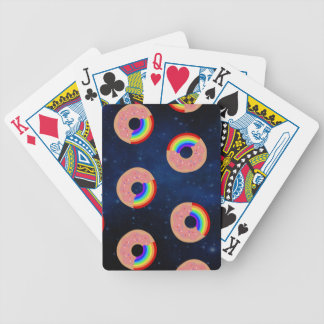Galaxy Donut Rainbows Bicycle Playing Cards