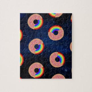 Galaxy Donut Rainbows Jigsaw Puzzle