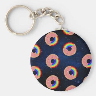 Galaxy Donut Rainbows Keychain