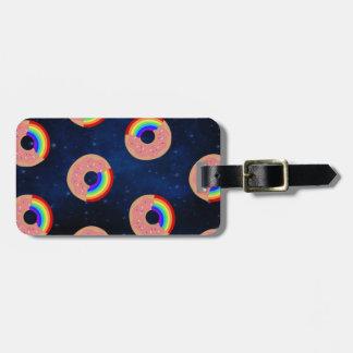 Galaxy Donut Rainbows Luggage Tag
