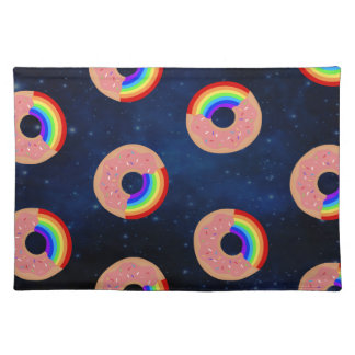 Galaxy Donut Rainbows Placemat