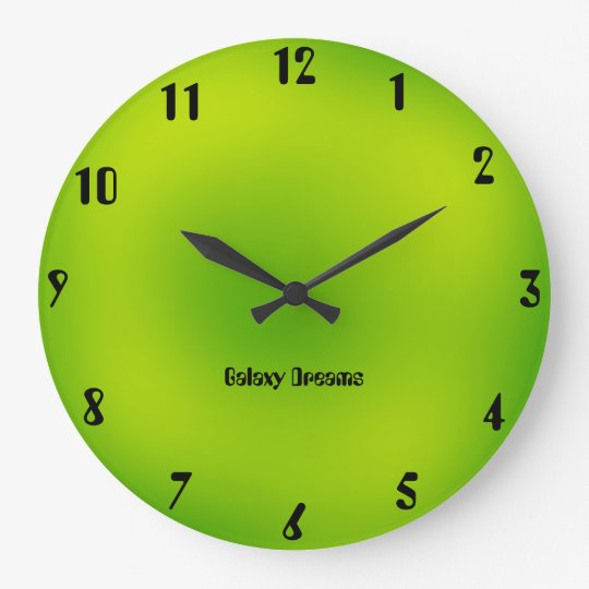 Galaxy Dreams Green Wall Clock