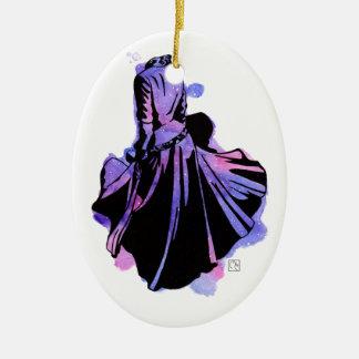 Galaxy Dress Ceramic Ornament