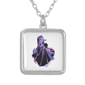 Galaxy Dress Silver Plated Necklace