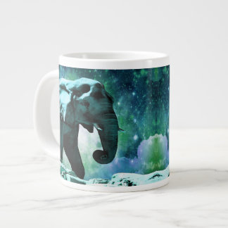 Galaxy Elephant of the Planet Pachyderm Large Coffee Mug