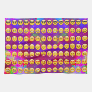 Galaxy Emojis Kitchen Towel
