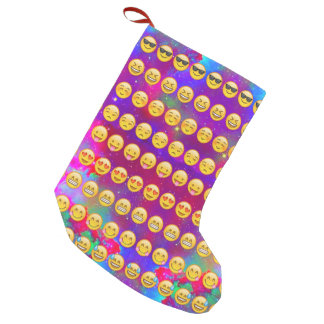 Galaxy Emojis Small Christmas Stocking