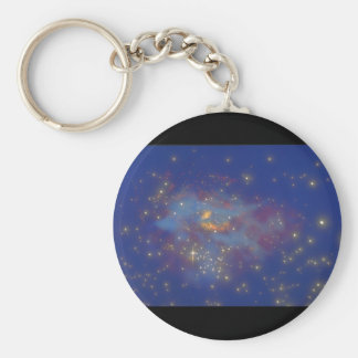 Galaxy. (galaxy;space;stars;color_Space Scenes Basic Round Button Keychain