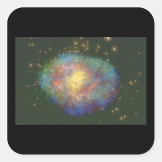 Galaxy. (galaxy;space;stars;'_Space Scenes Square Sticker