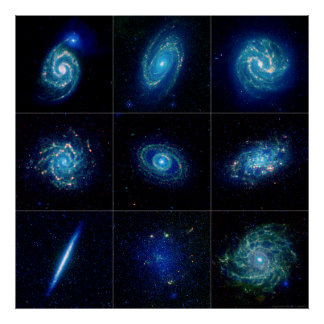 Galaxy Gallery - Nine Spectacular Galaxies Poster