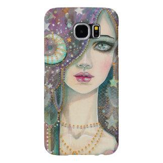 Galaxy Girl Bohemian Gypsy Fantasy Art Portrait Samsung Galaxy S6 Case