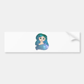 Galaxy Girl Bumper Sticker